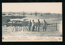 Greece SALONIQUE Salonica Bay WWI France military Landing Place many ships PPC