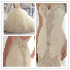 New Ivory/White Sweetheart Mermaid Wedding Dresses Bridal Gowns Custom Size 4-26
