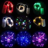 20 Small Micro LED Fairy Lights Copper Wire Button Battery Wedding Bedroom Y1