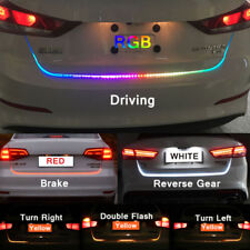 4 Color RGB Flow Type LED Car Tailgate Strip Brake Driving Turn Signal Light NEW