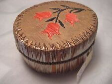 VINTAGE NATIVE AMERICAN QUILL BEADED BIRCH BASKET....INDIAN BASKET