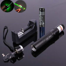 10 Mile Military Best Green 1mW 532nm Laser Pointer Pen Light Focus Visible Beam