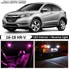 14x Pink Interior Reverse LED Lights Bulb Package Fits Honda HR-V HRV 2016-2018