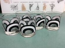 Vintage Groovy Colony Glasses Set of 5
