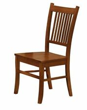 Marbrisa Slat Back Dining Side Chairs in Sienna Brown - Set of 2