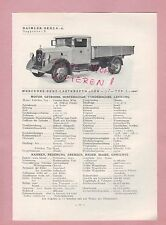 Gaggenau tipos pizarra 1934 daimler-benz ag mercedes camiones L o 2000, omnibus l o 2000