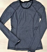 LULULEMON RUN SILVER BULLET Long Sleeve Tech Top size 4 Heathered Gray Running