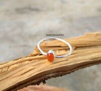 Solid 925 Sterling Silver Ring Anxiety Silver Ring Handmade Carnelian Ring ++++