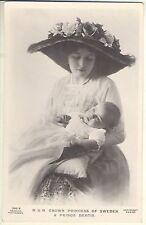 H.R.H. Princess of Sweden & Prince Bertie, 1915 Beagles Photo Postcard, #285.S.