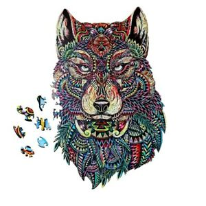Wooden puzzles Wolf Best Gift for Adults and Kid