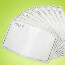 Pm2.5  X 16 Filters PPE Activated Carbon Filtration For Reusable Cotton Masks