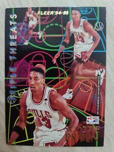 Carte collection Basketball 🏀 Fleer 1994 95 Scottie Pippen Hakeem Olajuwon NBA