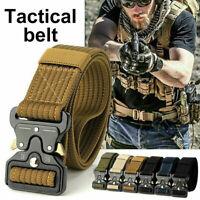 Men Quick Release Buckle Military Trouser Belt Cobra Tactical Nylon Webbing  _JO