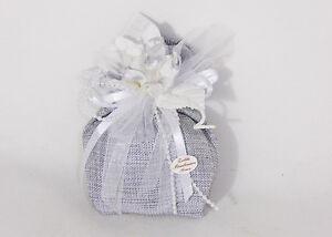 Bonboniere Tasche Groß Arg Pick Blume Hochzeit Silber 25 Dreißig Jahrestage
