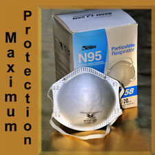 N95 N-95 Protective Disposable Face Mask Cover Niosh Respirator -1 / 5 / 10 Pack