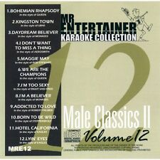 Mr Entertainer Karaoke CDG CD - Male Classics II CD+G Disc ft Queen & The Eagles