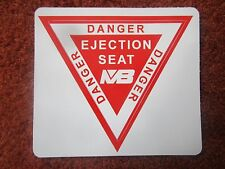 AUTOCOLLANT STICKER AUFKLEBER MARTIN BAKER SIEGE EJECTABLE EJECTION SEAT