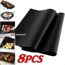Lot of 8 Mats Easy BBQ Grill Mat Bake NonStick Grilling Mats USA Free Ship USA