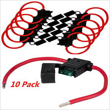 10 Pack ATC / ATO 16 Gauge 25 AMP In-Line Fuse Holder Vehicle Blade Fuses New