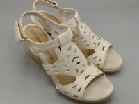 "Croft & Barrow Women's Ortholite Beige Shoes 2.5"" Wedge Heel 9 M Slingback"
