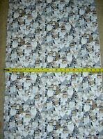 Gnome Gnomes Packed White Holiday C8208 Timeless Durable Cotton Fabric