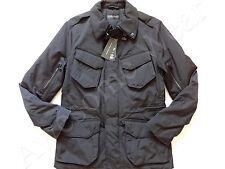 New Ralph Lauren Black Label Italy Made Poly Black Moto Jacket size SLIM M