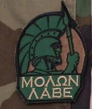Mil-Spec Monkey Molon Labe Full Morale Patch Forest Hook Back