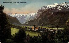 Engelberg Schweiz Obwalden AK ~1910 Titlis Spannörter Kirche Kapelle Berge Alpen