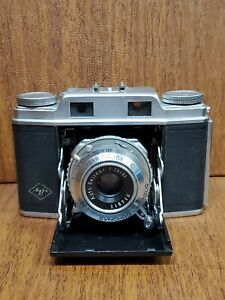 AGFA Super Solinette 35mm Folding Camera W/ Leather Case