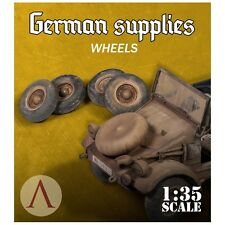 Scale 75 War Front German 5 wheels for Kubelwagen 1/35th resin Unpainted kit