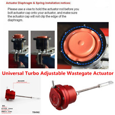 Red Universal Aluminum Alloy Turbo Adjustable Wastegate Actuator & Rod w/ Spring