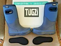 NEW KIDS WELLIES BOYS GIRLS WELLINGTON RAIN BOOTS - UK SIZE 10. TUGZI NEOPRENE
