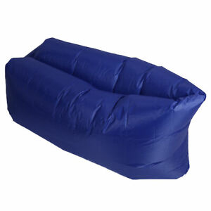 Foldable Air Sofa With Carrying Bag Inflatable Couch Sleepping Bed For Outdoor F