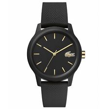 Lacoste 2001064 Women's 12.12 Black Silicone Wristwatch
