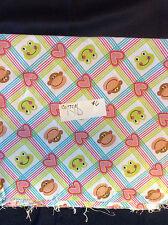 """Monkeys Nursery Cotton Fabric 1 Yd 36"""" long by 45"""" wide"""