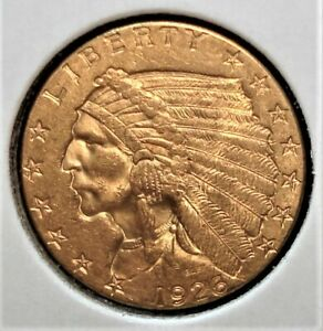 1926 Gold $2.50 Dollar US Quarter Eagle