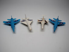 Vintage Plastic Military Air Force Army Fighter Jet Plane Airplanes Lot of 4