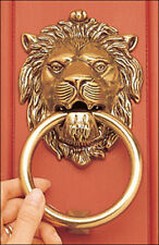 Lion's Head Solid Brass Door Knocker