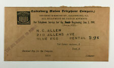 Galesburg Union Telephone Co IL Antique Advertising Cover Independent Phone 1909