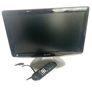 """19"""" SHARP Liquid Crystal TV Monitor HDMI With Remote WORKS GREAT LCD HDTV"""