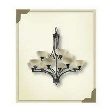OLD WORLD ENERGY SAVING 12 LIGHT CHANDELIER