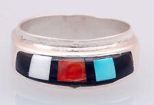 Calvin Begay Native American Inlay Ring Size 8