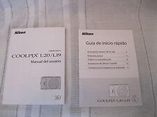 Nikon Coolpix L20/L19 Spanish: Manual del usuario & Guia de inicio rapido