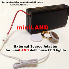 External Source Adapter kit for LED lights Dollhouse miniature lamp 3G battery