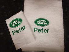 PERSONALISED LAND ROVER BADGE TOWEL SET