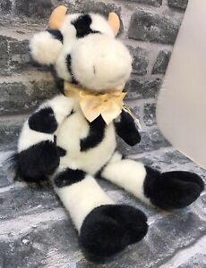 MANHATTAN TOY COMPANY BLACK AND WHITE COW TOY 39 CM