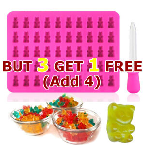 Silicone Gummy Bear Chocolate Jelly Mold Sweet Candy Maker Ice Tray Mould DIY