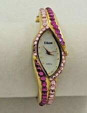 Beautiful Ladies Elkon Fuchsia & Pink RS GT Watch -Bangle Bracelet  New Battery