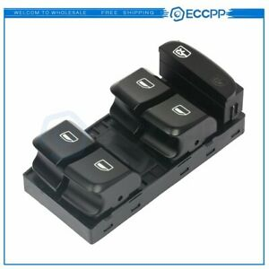 Power Window Switch for 09-12 Audi A4 Q5 S4 Front Left Driver Side 8K0959851DV10