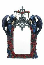 "14.5"" Gothic Arch W/ Grim Reaper & Roses Mirror Santa Muere Holy Death Statue"